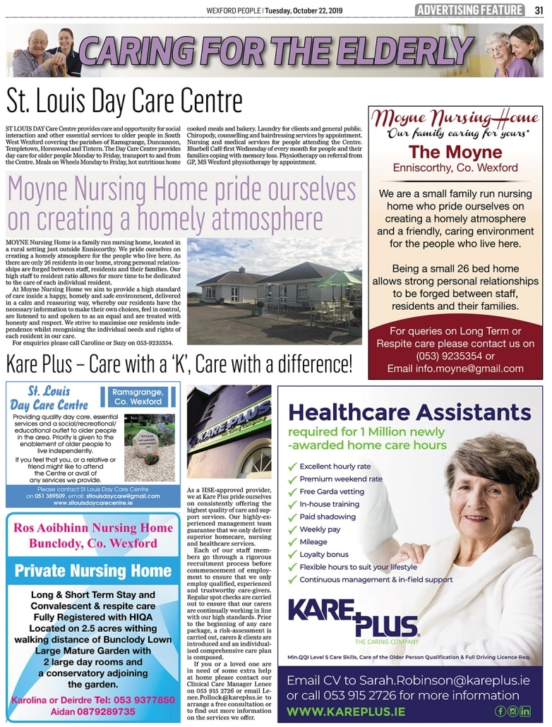 Kare Plus Wexford People Oct 22nd 2019