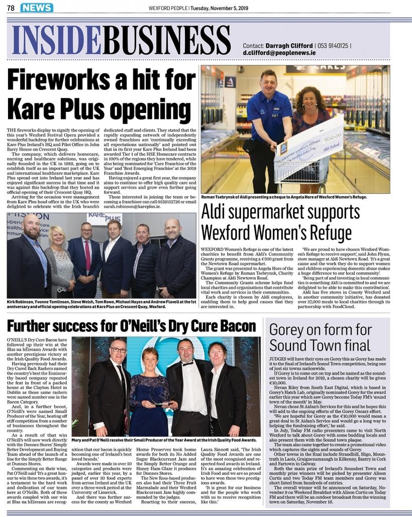 Kare Plus Wexford People November 5th2019